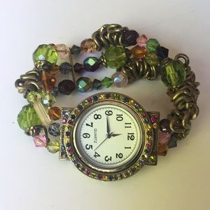 Accessories - Watch with Beaded Wrist Band
